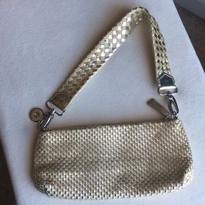The Sak gold purse / bag, removable strap
